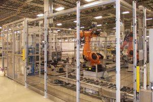 Getriebemontage: Komplexe Montagelinie mit Chaku Chaku System